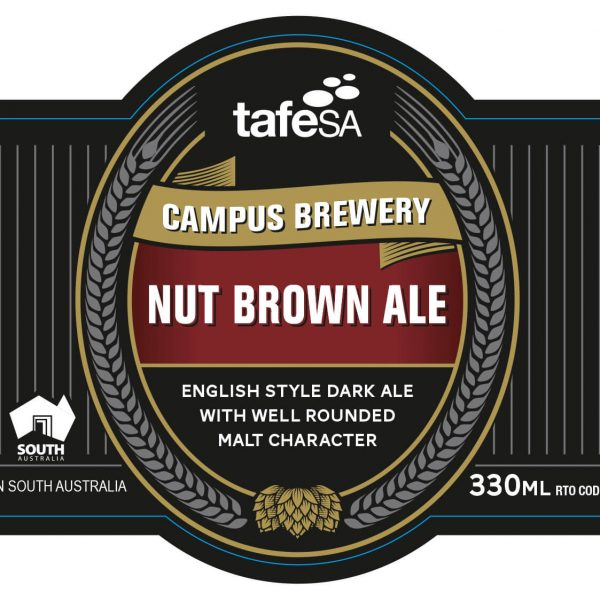 Label Image Nut Brown Ale
