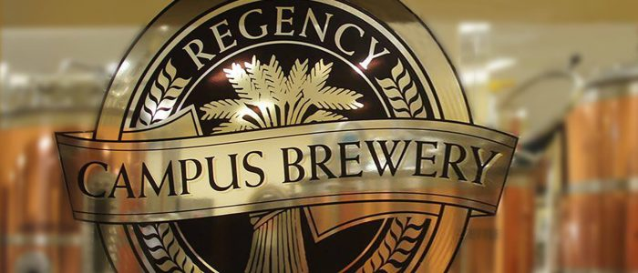 Campus Brewery Window with Logo